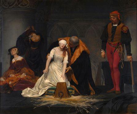 """""""La ejecución de Lady Jane Grey"""", óleo sobre lienzo, 1834"""