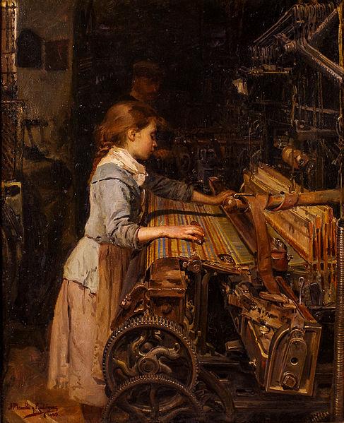 La niña obrera. Segunda versión, 1885