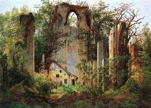 800px-Caspar_David_Friedrich_-_Klosterruine_Eldena_(ca_1825)