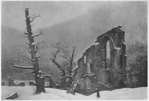 Winterlandschaft_mit_der_Ruine_des_Klosters_Eldena (oleo 73 x 106)